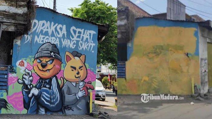 Mural 'Dipaksa Sehat di Negara yang Sakit' di Pasuruan Dihapus, Camat Bangil Akui Terima Perintah