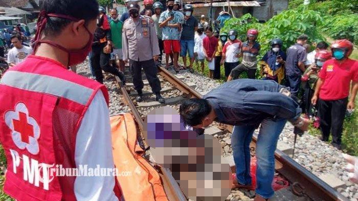 Klakson Tak Digubris, Wanita ini Malah Jongkok di Tengah Rel Saat Kereta Api Hendak Melintas