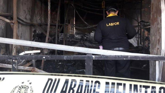 Penyidikan Penyebab Pasar Anom Baru Sumenep Kebakaran, Polisi Segera PanggilBPRS Bhakti Sumekar
