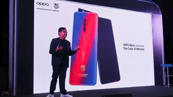 OPPO Reno 10x Zoom FC Barcelona Limited Edition Resmi Diluncurkan di Indonesia,Cek Harga Ponselnya