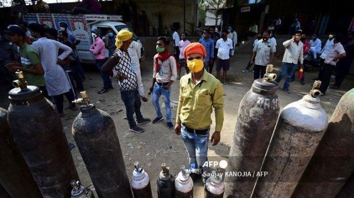 Oksigen Jadi Barang 'Mewah' di India, Banyak Penimbun Jual Oksigen Harga Mahal, Imbas Covid-19