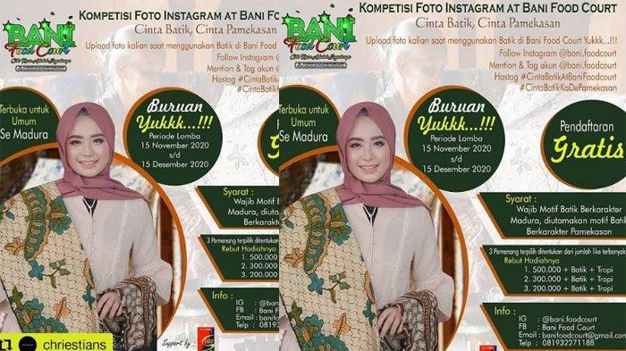Promosikan Batik Pamekasan Agar Terjual Tepat Sasaran, Bani Food Court Gelar Lomba Foto Instagram