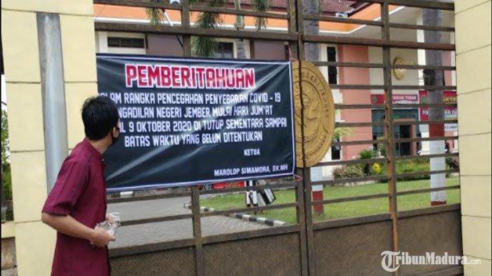 19 Pegawai Pengadilan Negeri Jember Positif Covid-19, Layanan Ditutup Sementara Mulai Hari ini