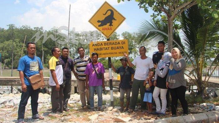 Manusia Hidup Berdampingan dengan Buaya di Sungai Kesang Malaysia, ada Perjanjian Tak Tertulis