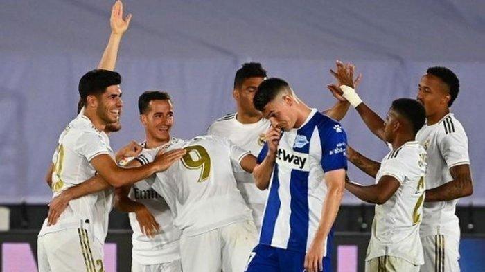 Hasil Liga Spanyol: Real Madrid Kalahkan Deportivo Alaves 4-1, Kokoh Pepet Pemuncak Klasemen