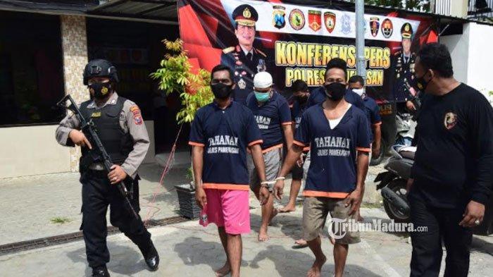 21 Tersangka Kejahatan di Pamekasan Ditangkap selama Ops Sikat Semeru, Mulai Curi Motor hingga Judi