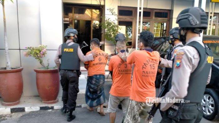 Enam Pria di Pamekasan Ditangkap Karena Narkoba, Satu Pelajar asal Pakong Ikut Diringkus Polisi
