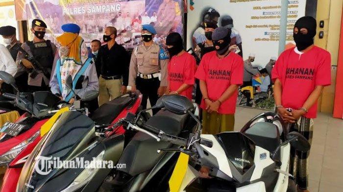 Curanmor dan Penadah Motor di Sampang Diringkus Polisi, Beraksi di Lima Lokasi Selama Tiga Hari