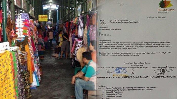 Pusat Grosir Surabaya (PGS) Bakal Ditutup Selama Dua Minggu, Imbas Corona Covid-19