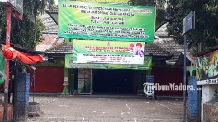 Pasar Kota Bojonegoro Ditutup Sepekan Usai 86 Pedagang Reaktif Corona, Bupati: Putus Rantai Covid-19