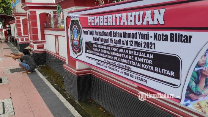 Dibuka 15 April 2021, Pasar Takjil Ramadan di Jalan Ahmad Yani Kota Blitar Dibatasi Jumlah Pedagang