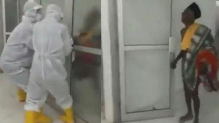 VIRAL Video PDP Ngamuk, Dobrak Pintu dan Berteriak di Ruang Isolasi Rumah Sakit, Begini Faktanya