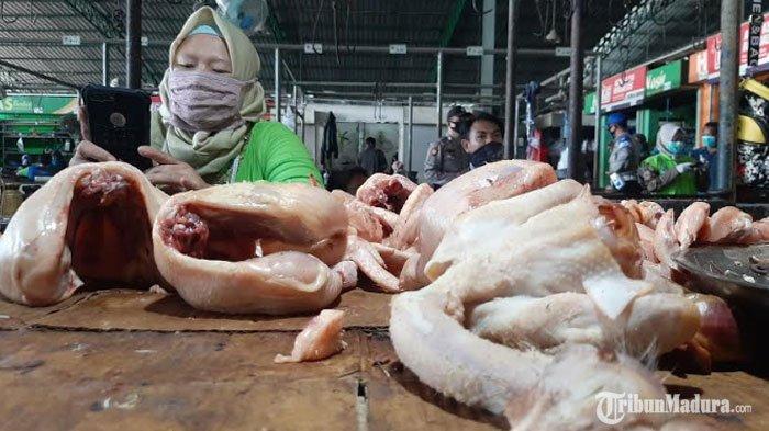 PSBB Gresik, Harga Sejumlah Bahan Kebutuhan Pokok di Pasar Turun, Harga Daging AyamJadi Rp 18 Ribu