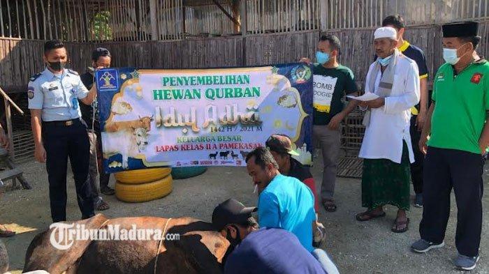 Lapas Pamekasan Sembelih 2 Sapi dan 8 Kambing di Idul Adha 2021, Daging Hewan Kurban Dibagi ke WBP