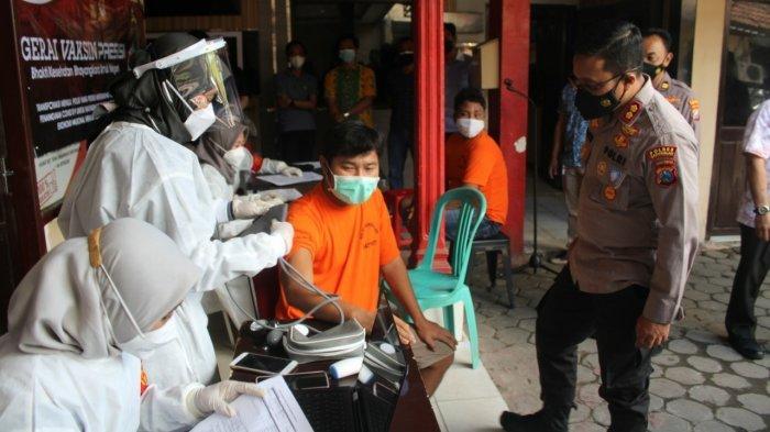 Sebanyak 89 Tahanan di Rutan Polres Bangkalan Disuntik Vaksin Covid-19