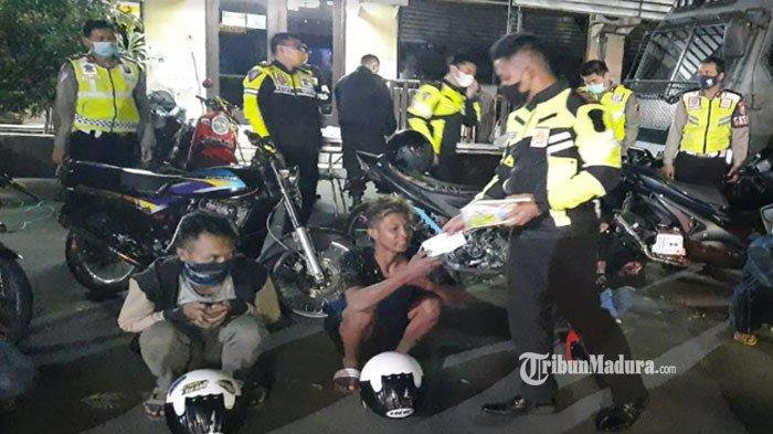 Tempat Balap Liar di Kota Malang Didatangi Polisi, 15 Kendaraan Bermotor dan Pemiliknya Diamankan