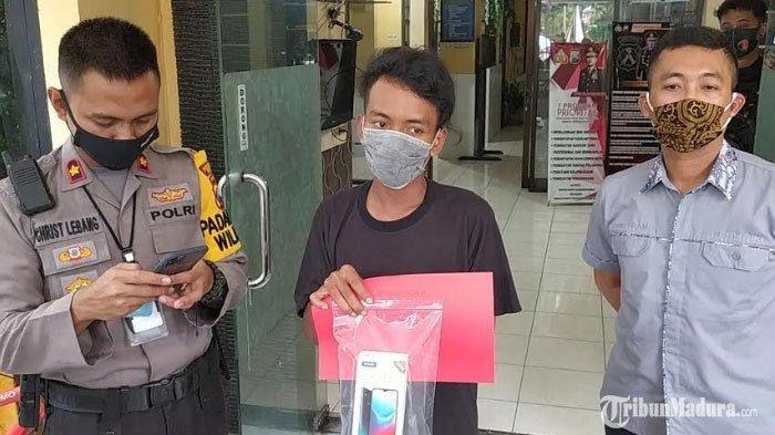 Aksi Licik Pemuda Surabaya Curi Ponsel Penjaga Warung Kopi, Barang Hasil Curiannya Tak Dijual