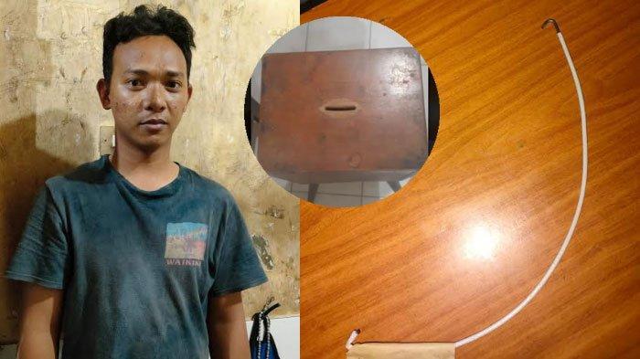 Modal Kawat Pegangan Ember, Pemuda ini Curi Uang dari Kotak Amal Masjid, Demi Bisa Ngopi dan Rokok