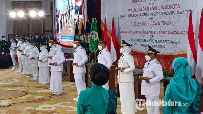 Khofifah Minta Kepala Daerah di Jatim yang Baru Dilantik Percepat Pencairan dan Realisasi Dana Desa