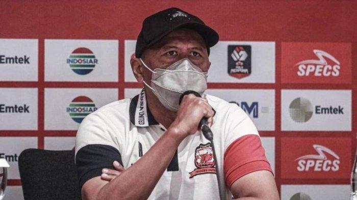 Pelatih Madura United Rahmad Darmawan Waspadai Kecepatan Permainan Sisi Sayap PSS Sleman