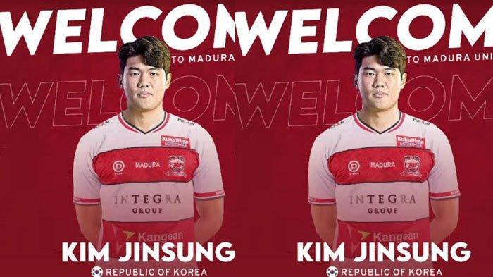 Ditinggal Jacob Pepper, Kini Madura United Resmi Perkenalkan Kim Jinsung untuk Isi Slot Pemain Asing