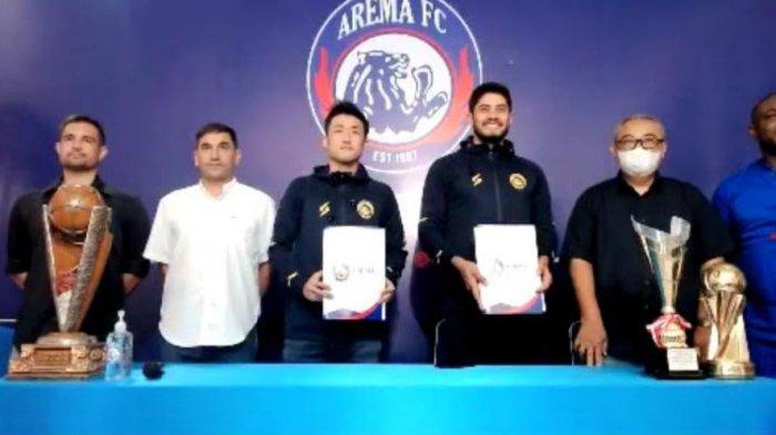 Arema FC Kenalkan Renshi Yamaguchi dan Adilson Maringa Lewat Aplikasi Zoom