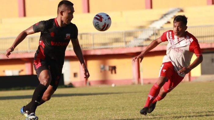 Pelatih Madura United Akui Kantongi Banyak Catatan Timnya ketika Latihan Bersama Putra Jombang