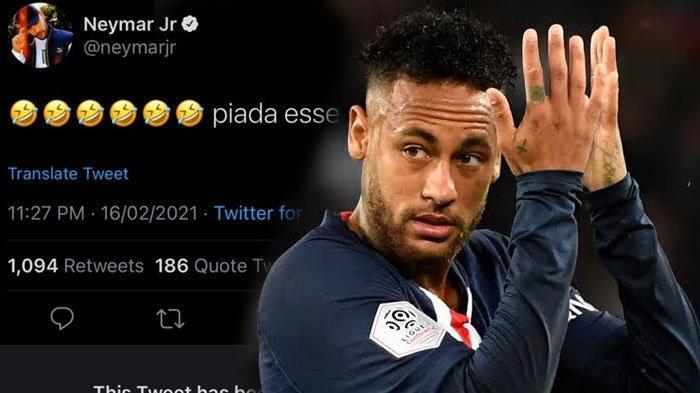 Emot Tawa Twitter Neymar Sindir Klub Mantan, Buru-Buru Dihapus, Sindir Soal Penalti Barcelona
