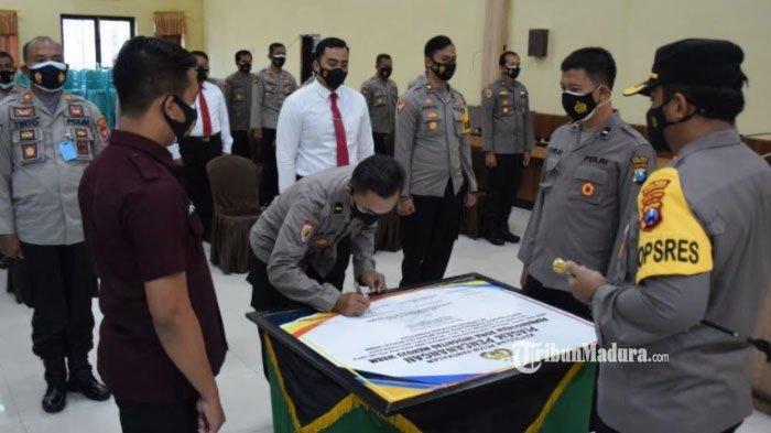 Polres Pamekasan Siap Menuju Pembangunan Zona Integritas, Semua Anggota Komitmen Wujudkan WBBM