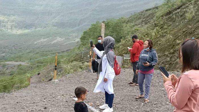 Awal Ramadan 2021, Wisatawan Tetap Datangi Objek Wisata Gunung Kelud di Kabupaten Kediri