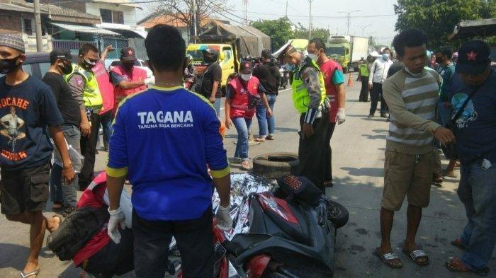 Kecelakaan Maut, Motor Tabrak Angkot Parkir Sembarangan Lalu Dihantam Truk, Mahasiswa 18 Tahun Tewas