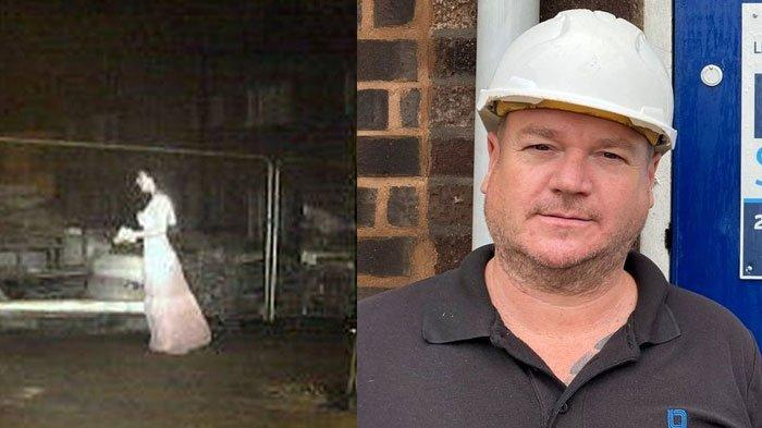 Sosok Gaun Putih Berjalan Mengambang Tertangkap Kamera, Bikin Bos Perusahaan Keamanan Tak Bisa Tidur
