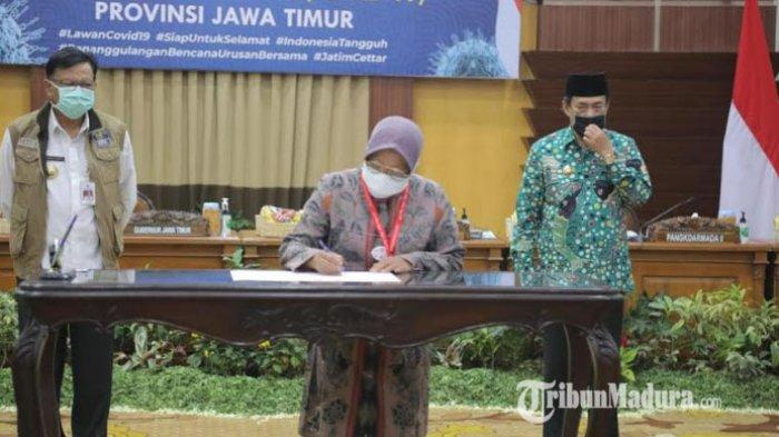 3 Kepala Daerah Surabaya Raya Tandatangani Komitmen Bersama, Sepakat Jalani 5 Poin Tangani Covid-19