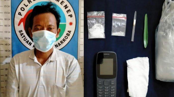 Warga Kecamatan Dasuk Sumenep Dijemput Polisi di Rumahnya, Kedapatan Simpan Barang Haram Narkoba