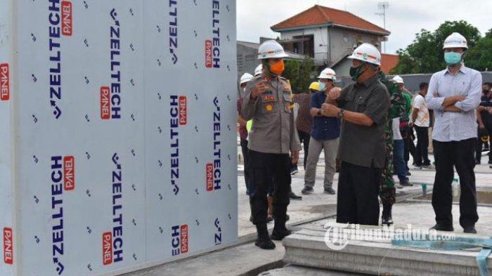 Pembangunan Rumah Sakit Darurat Covid-19 di Lamongan Dikebut, 15 Hari Pengerjaan Capai 18 Persen