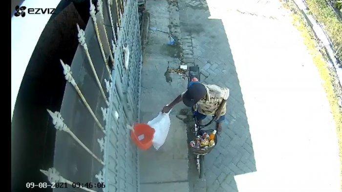 Baru Dikirim Kurir, Paket 60 Piring Raib Digondol Maling, Pelaku Terekam CCTV