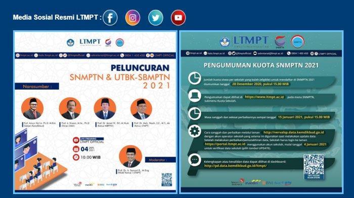 Cara Mendaftar SNMPTN 2021, Proses Pendaftaran Sudah Dibuka, Ikuti 7 Tahapan Berikut Ini