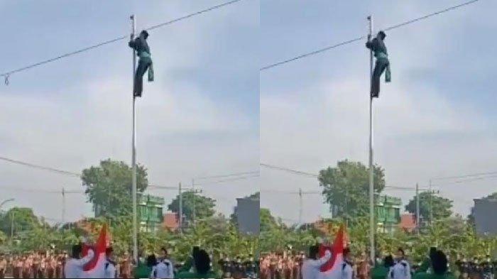 Videonya Viral, Begini Pengakuan Pendekar Silat yang Panjat Tiang dan Benahi Bendera Merah Putih,