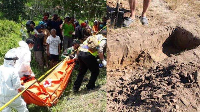 Penemuan mayat Mistrin (56) dalam lubang bekas mes PJB Kecamatan Sumberpucung Kabupaten Malang