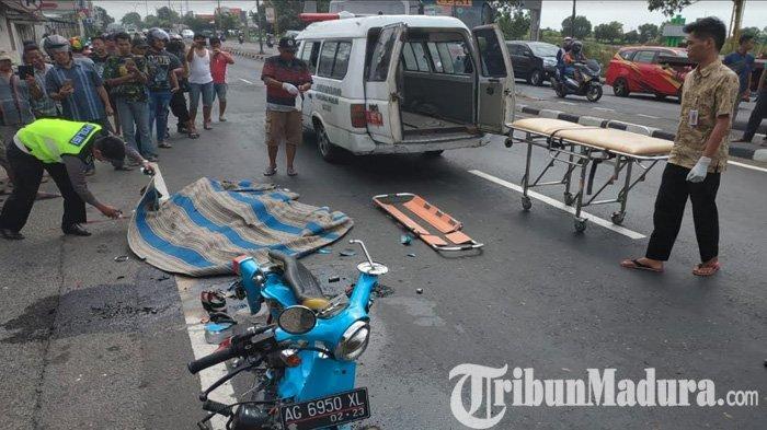 Pemotor Honda Ulung Langsung Tewas Mengenaskan Dilindas Truk Tangki Gandeng di Jombang