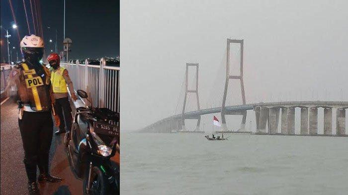 Pengendara Motor di Jembatan Suramadu Diduga Melompat ke Laut, Ada Surat Wasiat yang Ditinggalkan