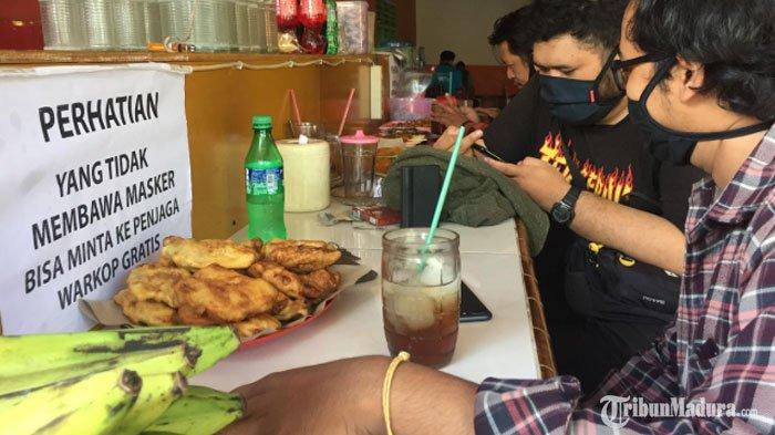 Warung Kopi di Surabaya ini Sediakan Masker Gratis Bagi Pengunjung, SeringKena Razia Satpol PP