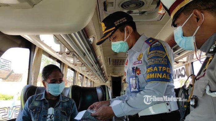 Langgar Syarat Perjalanan, 90 Bus dan 63 Penumpang di Terminal Patria Kota Blitar Tak Diberangkatkan
