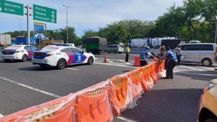Exit Tol Sidoarjo Arah Surabaya Ditutup, PJR Polda Jatim Beber Alasan Penutupan Pintu Tol