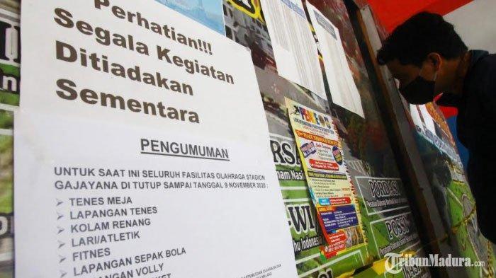 Kantor Disporapar Kota Malang Ditutup, Ada ASN Positif Covid-19, Fasilitas Olahraga Ikut Ditutup