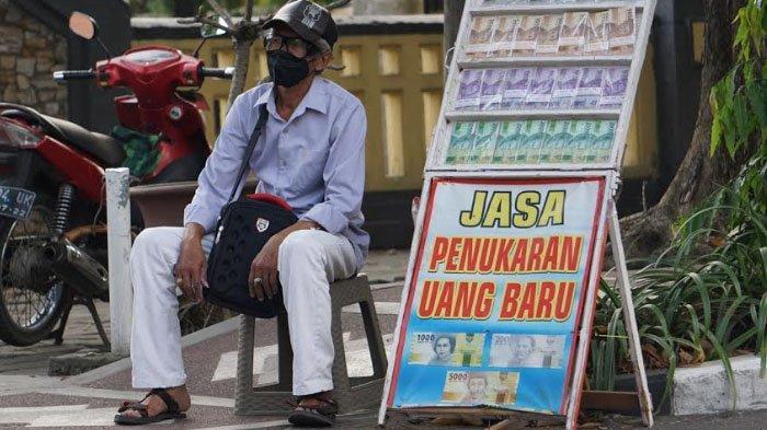 Jasa Penukaran Uang Baru Mulai Bermunculan di Kabupaten Sidoarjo
