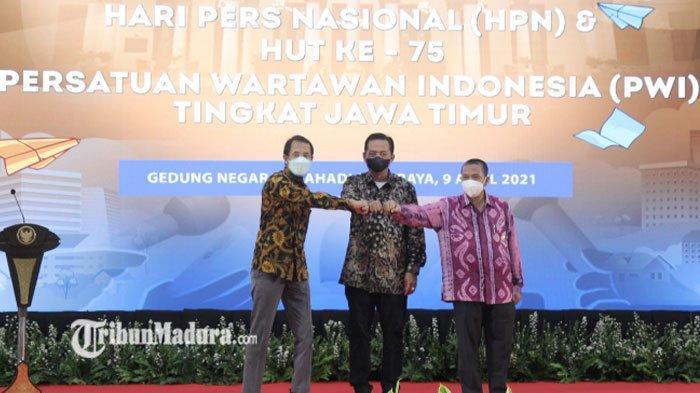 Peringatan HPN 2021, Pesan Gubernur Khofifah untuk Industri Pers: Berjalan Sehat dan Terlindungi