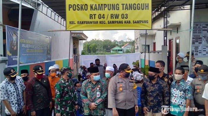 Kampung Tangguh diBanyuanyar Sampang Diresmikan, Libatkan Warga Tekan Penyebaran Covid-19