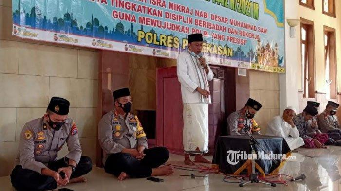 Polres Pamekasan Gelar Peringatan Isra Miraj, Terapkan Protokol Kesehatan Ketat selama Acara