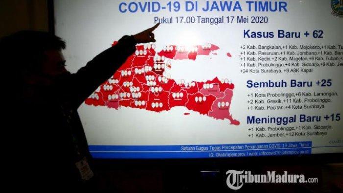 BREAKING NEWS - Kasus Positif Covid-19 di Jatim Tambah 62 Orang, 9 Merupakan Anak Buah Kapal KMP Awu